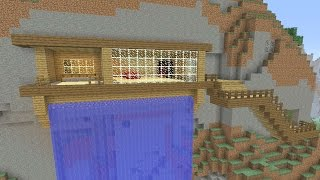 Minecraft Tutorial: How To Make A CLIFF / MOUNTAIN!! Survival House (ASH#25)