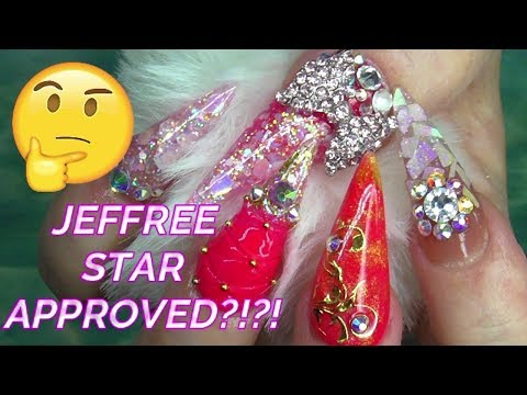 JEFFREE STAR INSPIRED BLING ACRYLIC NAILS  ABSOLUTE NAILS