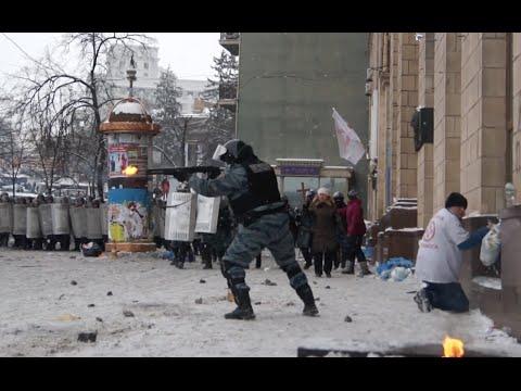 Публикуется впервые: 22.01.2014 Киев. Майдан и Грушевского • Кiеv: Маidаn Grushеvsкоgо - DomaVideo.Ru