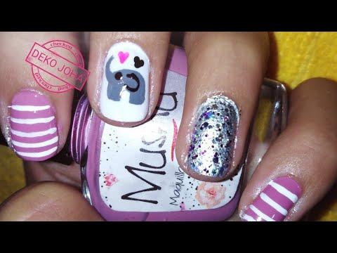 Modelos de uñas - Decoración de uñas con elefante  paso a paso