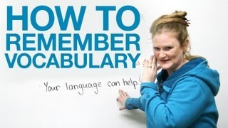 How To Remember Vocabulary