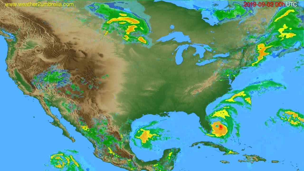 Radar forecast USA & Canada // modelrun: 12h UTC 2019-09-02