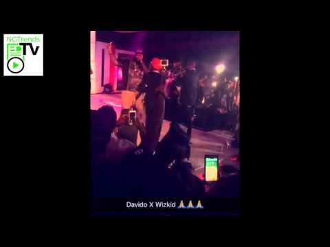 Wizkid & Davido Perform Together On Stage At The Club With Remy Martins 2015 FInale