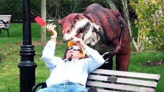 Epic Dinosaur Prank