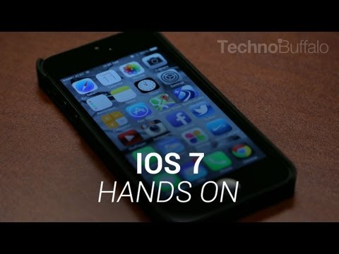 technobuffalo - iOS 7 Hands On! We're still trying to digest the new look and feel of iOS 7. Haven't seen what it looks like? The core experience is still there, but the ico...