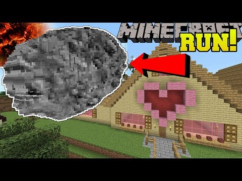 Minecraft: HUGE METEOR HITS JEN'S HOUSE!!! (DISASTERS YOU WONT SURVIVE!) (видео)