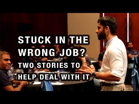 Stuck in the wrong career? Here are 2 stories to help you deal with it...