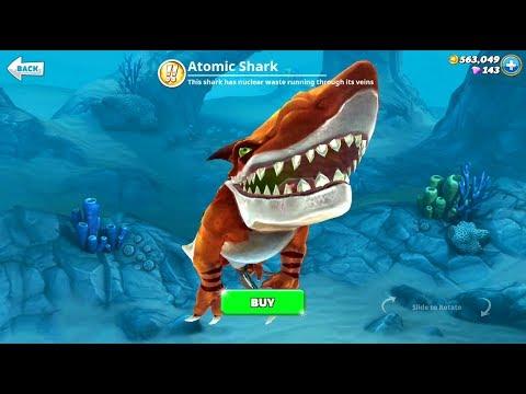 Atomic Shark Unlocked No Hack - (540,000 coins) Gameplay - Hungry Shark World