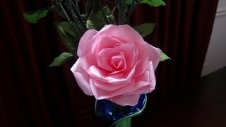 How To Make Rose Flower With Tissue Paper - Wrapping Method