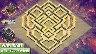 Clash of Clans - We are here with the anti-2 star Town Hall 9 War Base. This base is built with the new Clash of Clans updates for the year 2017. This Base will help you to win the clan wars. From this base opponent can't claim more than 2 star.But remember you need max defensive troops in your Clan Castle. So request your clan mate for max wizard, max balloons, and max valk. With these troops this base is perfect.-----------------------------------------------------------------------------------------------------------Subscribe : https://goo.gl/52Hu3iFacebook Page : https://www.facebook.com/baseofclans/twitter : https://twitter.com/BaseofClansClash of Clans is an addictive multi-player game which consists of fast paced action combat. Build and lead your personalized armies through enemy bases taking gold, elixir and trophy's to master the game and become a legend. Up-rise through the realms and join a clan to reign supreme above all others.----------------------------------------------------------------------------------------------------------------Song: Jim Yosef - Speed [NCS Release]Music provided by NoCopyrightSounds.Video Link: https://youtu.be/lP6mK2-nLIkDownload Link: http://NCS.lnk.to/Speed----------------------------------------------------------------------------------------------------------------Related Searches:th9 war base 2017,th9 war base anti everything,th9 war base anti 3 star,th9 war base anti 2 star,th9 war base without xbows,th9 war base anti Iavaloon,th9 war base anti valkyrie,th9 best base,town hall 9 war base 2017,town hall 9 best war base,clash of clans town hall 9 war base new update,clash of clans town hall 9 top war base,clash of clans th9 war base 2017,clash of clans th9 war base new update,clash of clans th9 war base anti everything,Double Cannon,Geared Up Cannon,