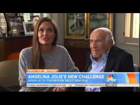 Video Angelina Jolie and Louis Zamperini talk about Unbroken  Today Show by Tom Brokaw download in MP3, 3GP, MP4, WEBM, AVI, FLV February 2017