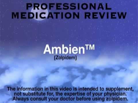 Sleep Aid - Ambien (Zolpidem Tartrate)