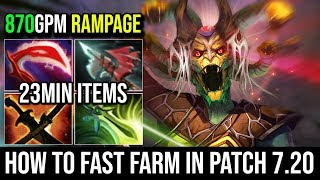 Video How to Fast Farm in 7.20 [Medusa] Ultimate Tanky 1st Butterfly With RAMPAGE 17KIlls Immortal Dota 2 MP3, 3GP, MP4, WEBM, AVI, FLV Desember 2018