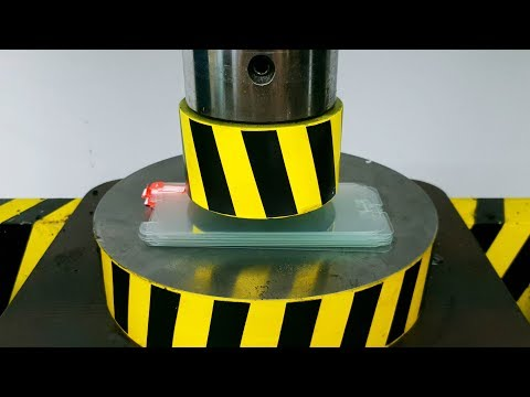 EXPERIMENT HYDRAULIC PRESS 100 TON Vs 20 Tempered Glass Screen Protector