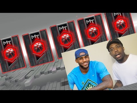 OPENING PACKS WITH LEBRON JAMES! THE BEST PACK OPENING LUCK EVER! NBA 2k17 MyTeam(CardBoard Lebron)