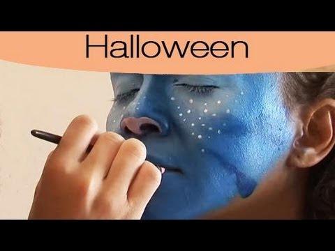 Maquillage d'halloween : avatar