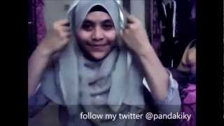 Hijab Tutorial Paris (square Head Scarf) Simple Panda
