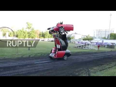 Russia: See LADA transform into gun-toting 'Transformers' robot