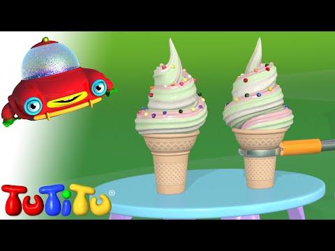 Episodio cartone TuTiTu i simpatici amici di tutitu e la produzione di gelato Gelato episodio cartone animato completo