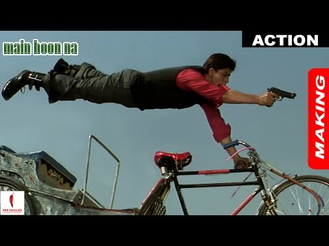 Main Hoon Na   Making of Action   Shah Rukh Khan, Sushmita Sen   A Film By Farah Khan