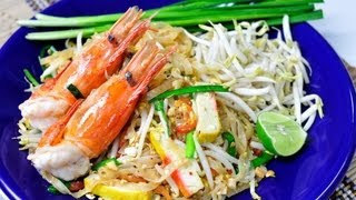 [Thai Food] Phad Thai Goong Sod (Stir Fried Narrow Rice Noodle With Prawn)