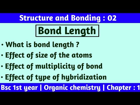 Bond length | Bsc 1st year chemistry | Structure and bonding | by Chemboost : Bsc chemistry |