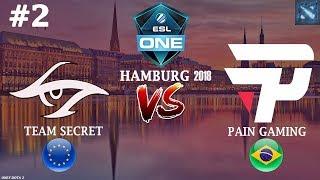Secret vs paiN #2 (BO3) | ESL One Hamburg 2018