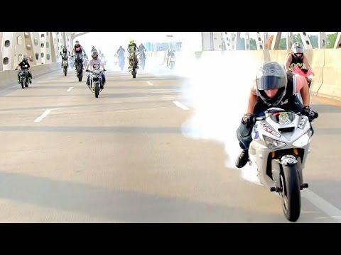 INSANE Street Bike Stunts CRAZY Highway WHEELIE + DRIFT Motorcycle TRICKS Riders Are Family Ride