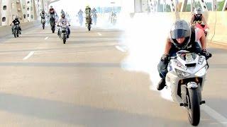 Video INSANE Street Bike Stunts CRAZY Highway WHEELIE + DRIFT Motorcycle TRICKS Riders Are Family Ride MP3, 3GP, MP4, WEBM, AVI, FLV April 2017