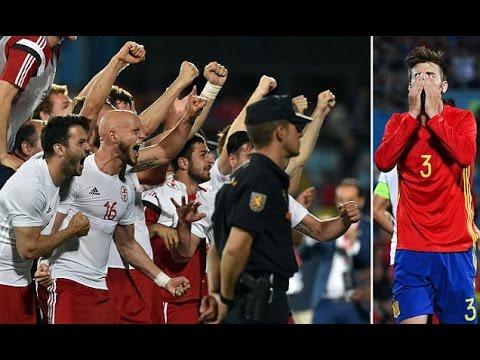 بالفيديو : إسبانيا تتعرض لخسارة مفاجأة امام جورجيا في آخر مباراة استعدادية ليورو 2016