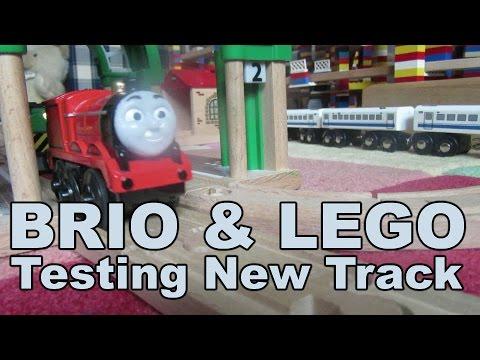 BRIO + LEGO Testfahrt auf Holz Eisenbahn / Testing new Wooden Train Track - Kanal für kinder