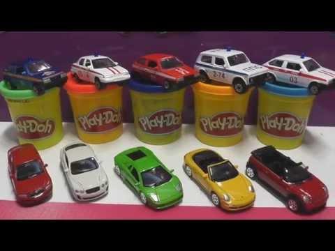 Машинки Surprise eggs CARS Скорая помощь Милиция полицейская Развивающий мультик про машинки