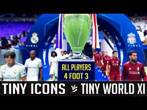 Tiny Icons VS Tiny World XI - FIFA 19 Experiment
