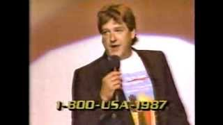 "Former First Lieutenant Blake Clark is a brother-in-comedy-armsFrom the HBO special ""Welcome Home"" Airdate: July 4, 1987"