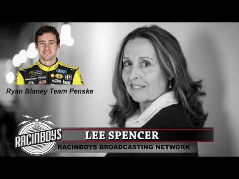 Lee Spencer with Ryan Blaney 11 10 18