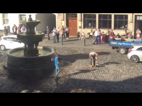 Boy Takes Down Hate Preacher With Bagpipe