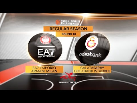 EuroLeague Highlights RS Round 18: EA7 Emporio Armani Milan 92-87 Galatasaray Odeabank Istanbul