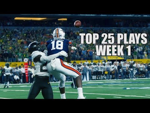 Top 25 Plays From Week 1 Of The 2019 College Football Season ᴴᴰ