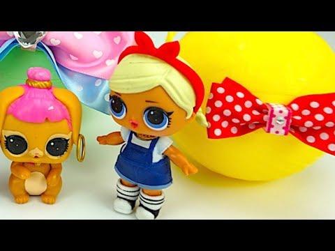 Распаковываем игровой набор для детей играем с куклами ЛОЛ - DomaVideo.Ru