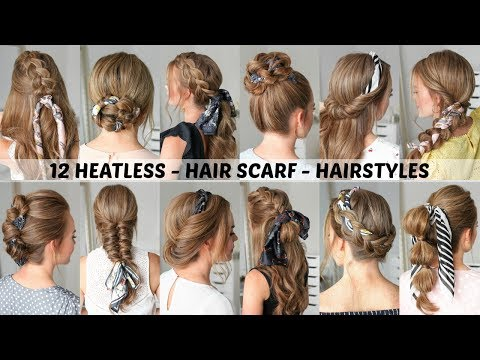 New hairstyle - 12 Hair Scarf Hairstyles  Back to School  Missy Sue