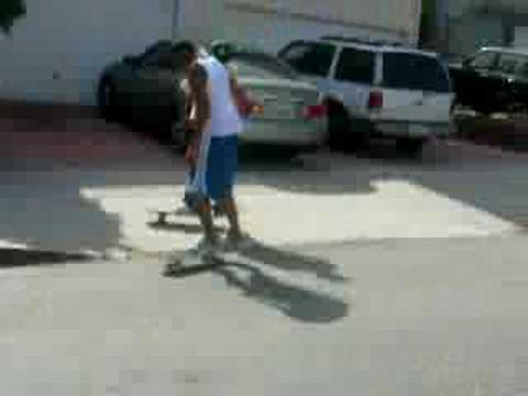 Lonnie Fallen On The Skateboard