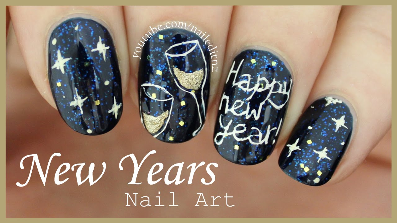 HAPPY NEW YEAR ♥ Nail Art per un Capodanno Stellato ♥ VIDEOTUTORIAL