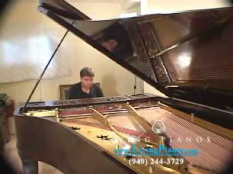 chickering piano - http://www.LivingPianos.com https://www.facebook.com/livingpianos Top notch rebuilding on this Chickering Concert Grand Piano was performed by Bosendorfer Ma...