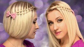 Faux bob + Ladder waterfall braid ★ Hairstyle for medium long hair tutorial
