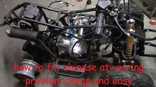 9. How to fix chinese atv wiring. No wiring, no spark, no problem.