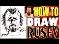 How To Draw A Quick Caricature Rusev