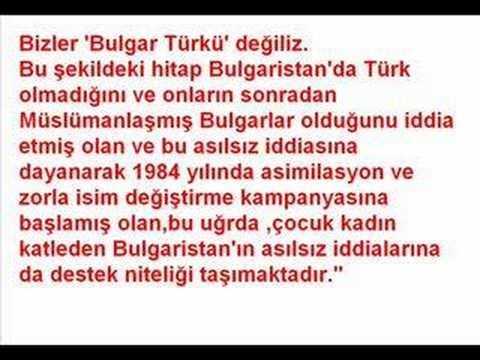 Bulgar Türkü değil,Bulgaristan Türkü