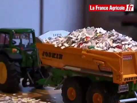 test grandeur nature pour les miniatures agricoles - tracteur et matériel agricole