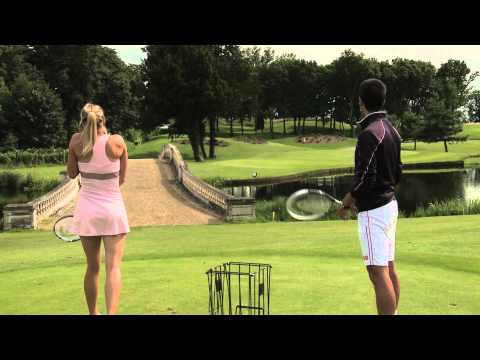Tennis Stars Playing Golf Using Tennis Rackets