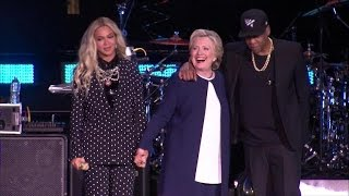 Hillary Clinton gets support from Jay Z and Beyonce